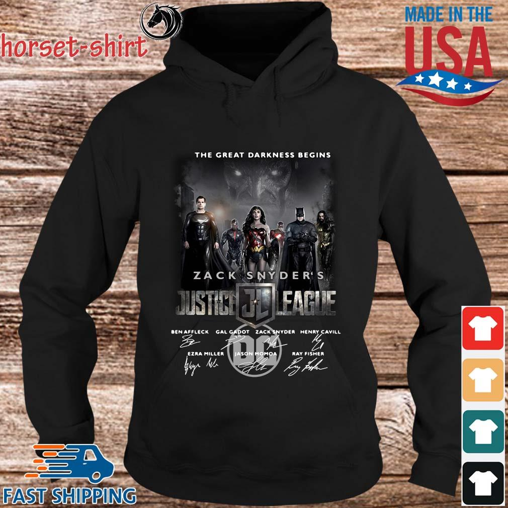 The Great Darkness Begins Zack Snyder_s Justice League Signatures Shirt hoodie den