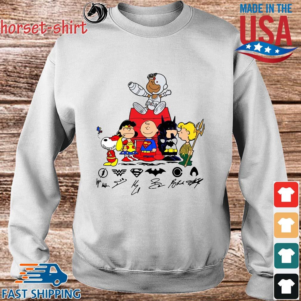 The Peanuts Character Snyder Cut Signatures Shirt Sweater trang