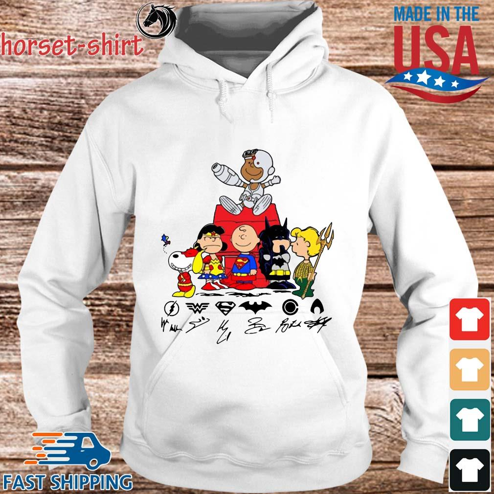The Peanuts Character Snyder Cut Signatures Shirt hoodie trang