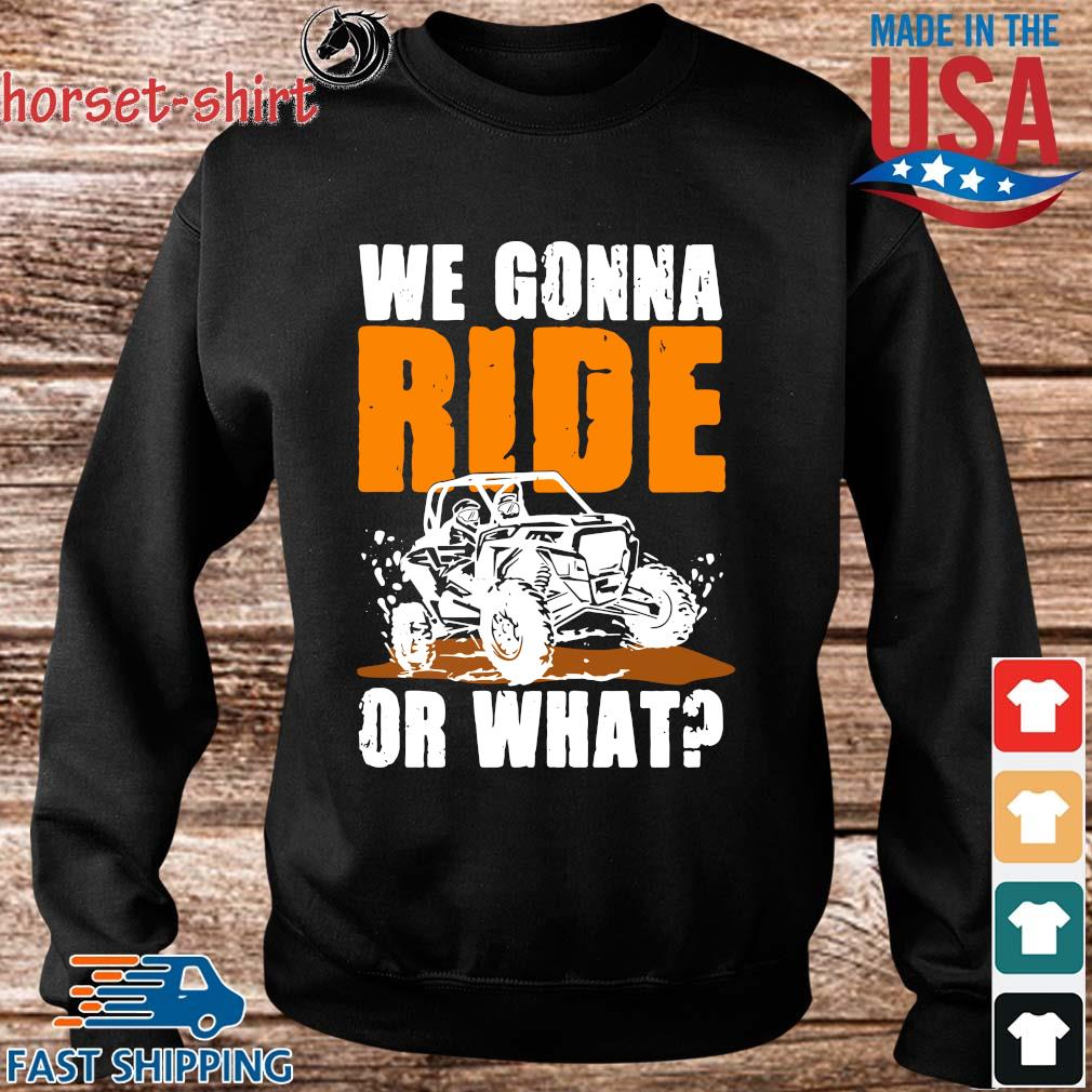 We Gonna Ride Or What Shirt Sweater den