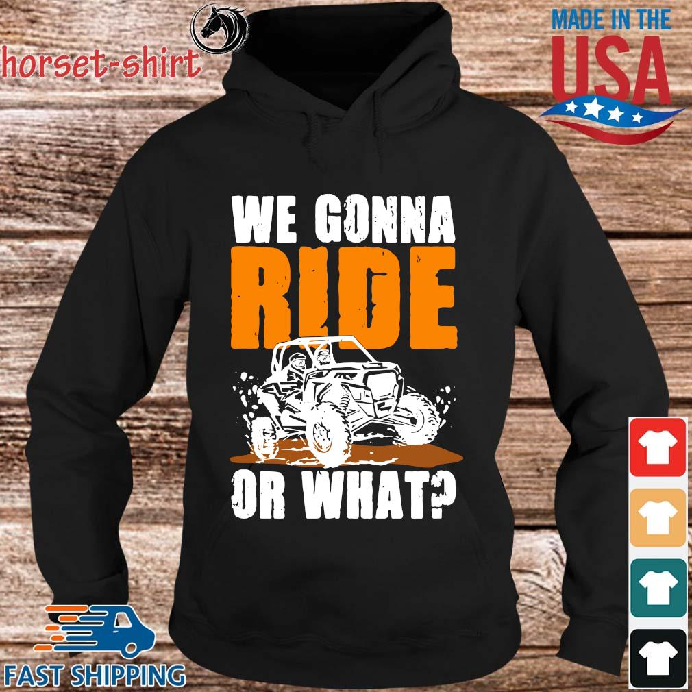 We Gonna Ride Or What Shirt hoodie den