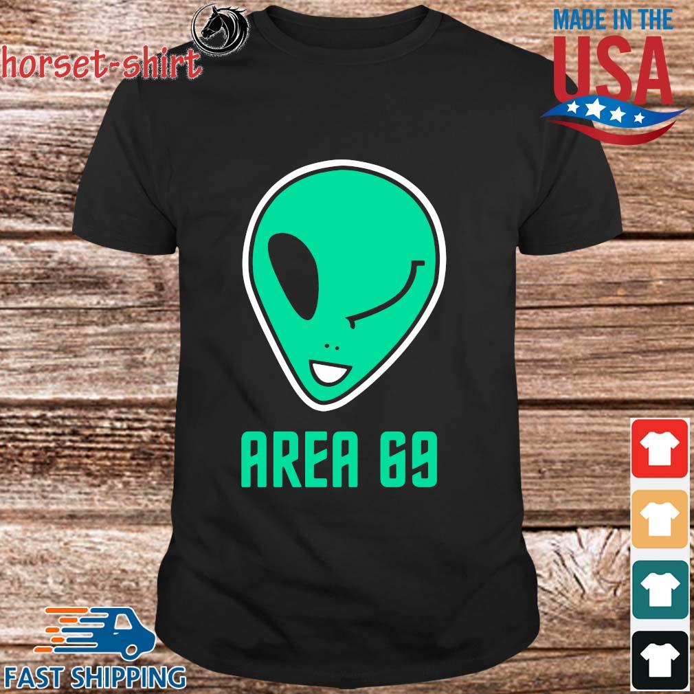Winking Alien Joke Area 69 Shirt