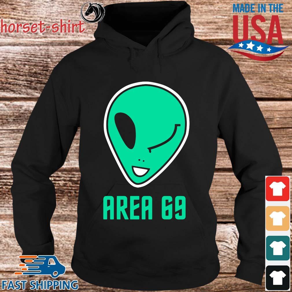 Winking Alien Joke Area 69 Shirt hoodie den