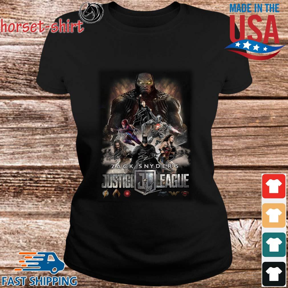 Zack Snyder_s Justice League 2021 Signatures Shirt ladies den