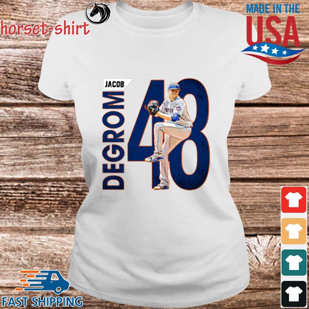48 Jacob Degrom New York Mets Baseball Shirt Ladies trang