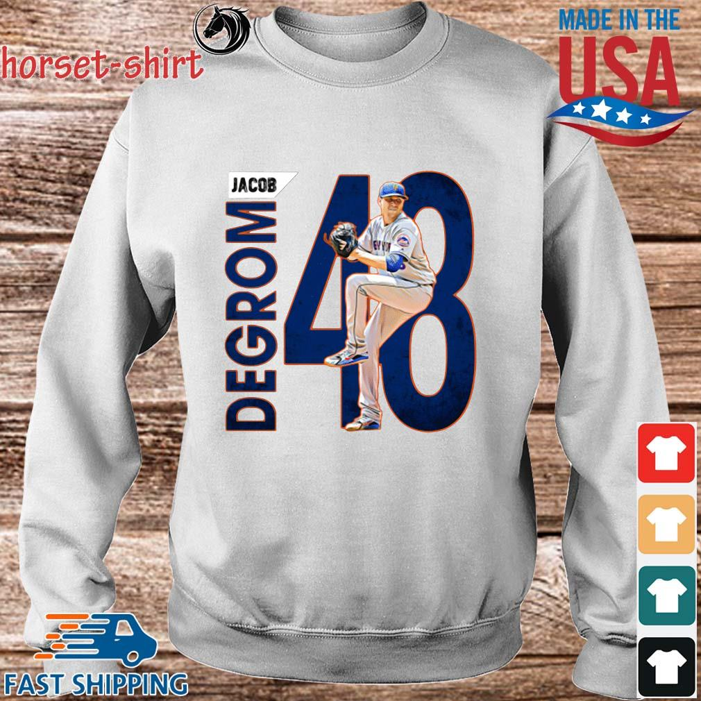48 Jacob Degrom New York Mets Baseball Shirt Sweater trang
