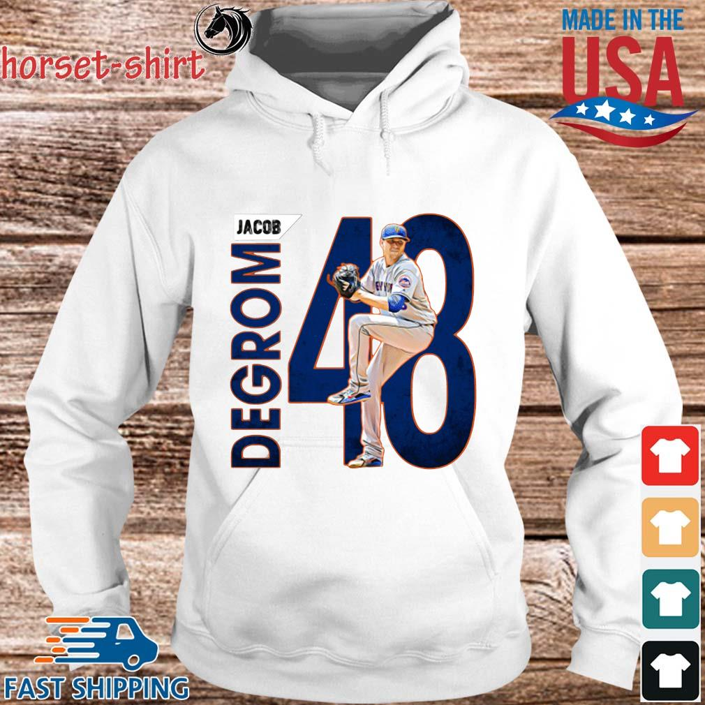 48 Jacob Degrom New York Mets Baseball Shirt hoodie trang