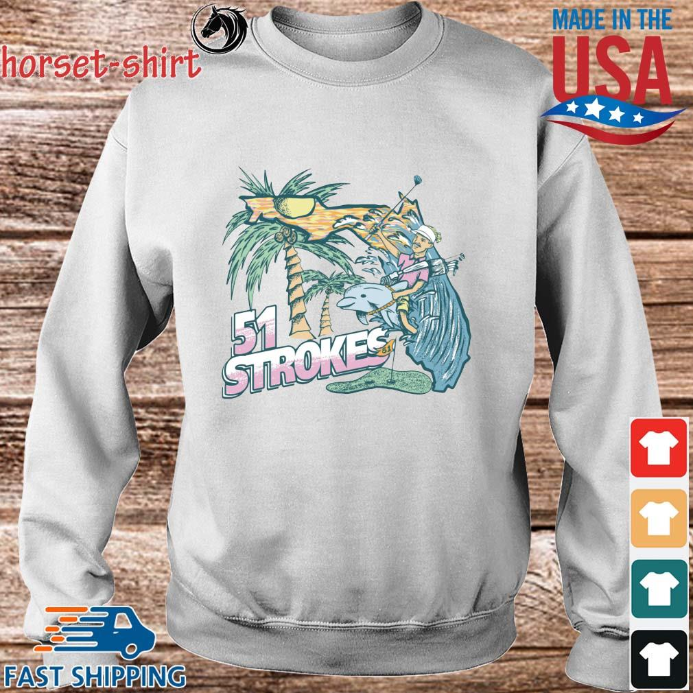 51 Strokes Crewneck Pocket Shirt Sweater trang