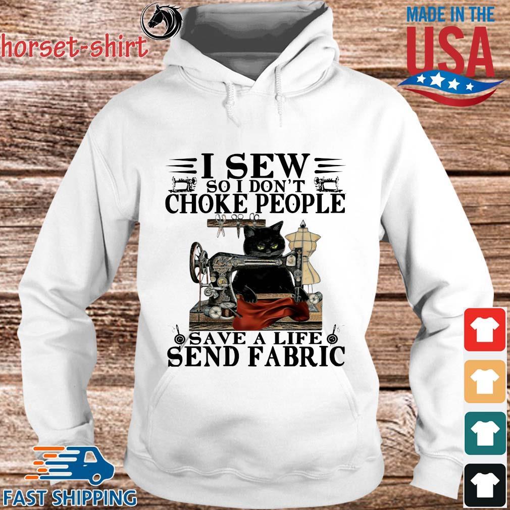 Black Cat I sew so i don't choke people save a life send fabric s hoodie trang