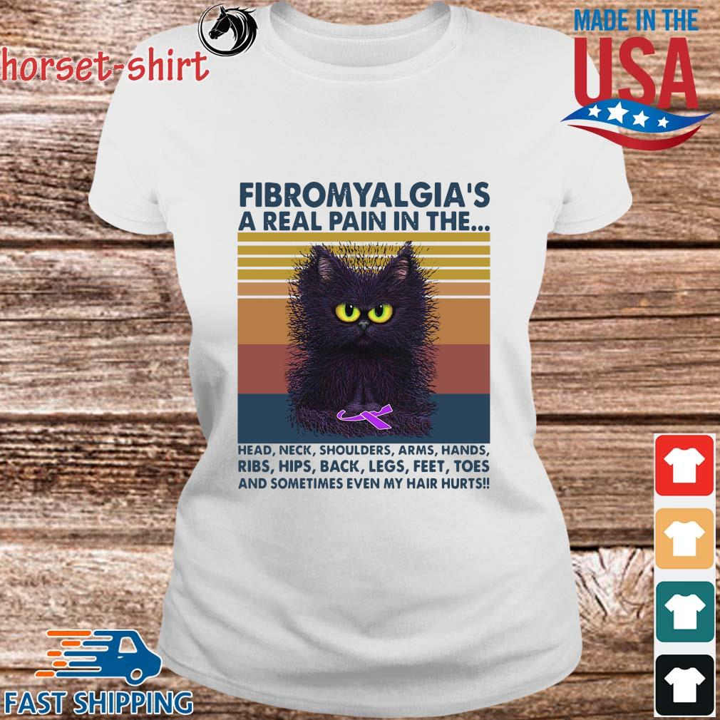 Cat fibromyalgia a real pain in the head neck shoulders arms hands vintage s Ladies trang