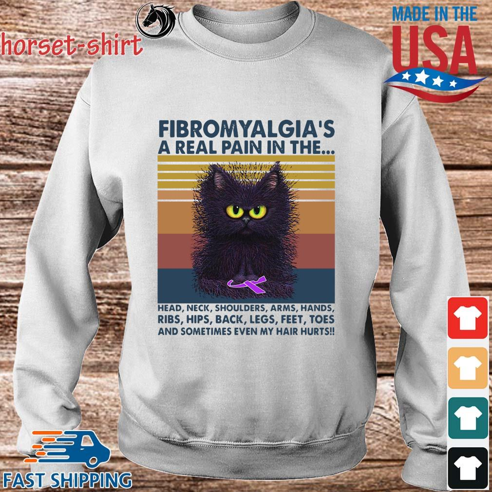 Cat fibromyalgia a real pain in the head neck shoulders arms hands vintage s Sweater trang