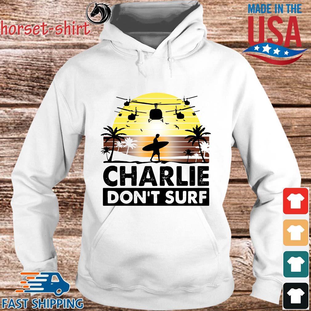 Charlie don't surf vintage sunset s hoodie trang