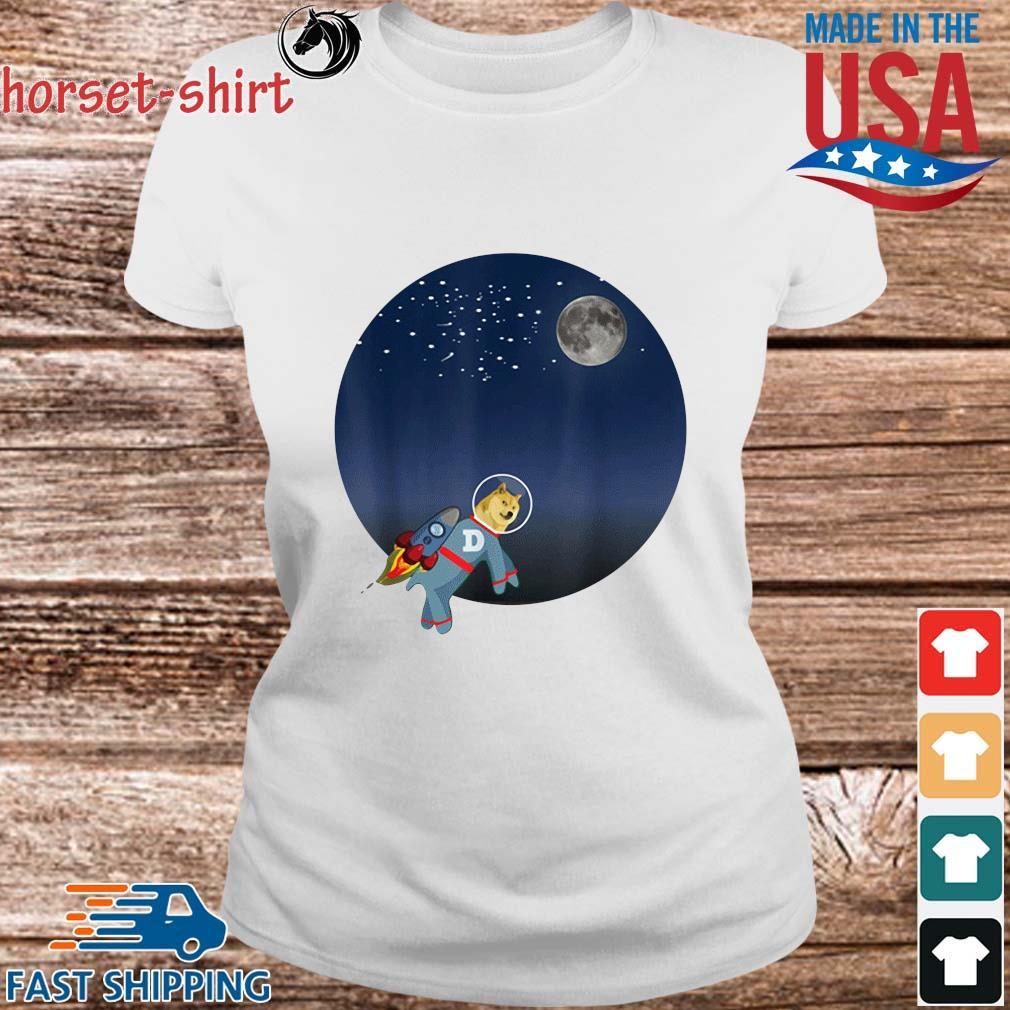 Dog To The Moon Shirt Ladies trang