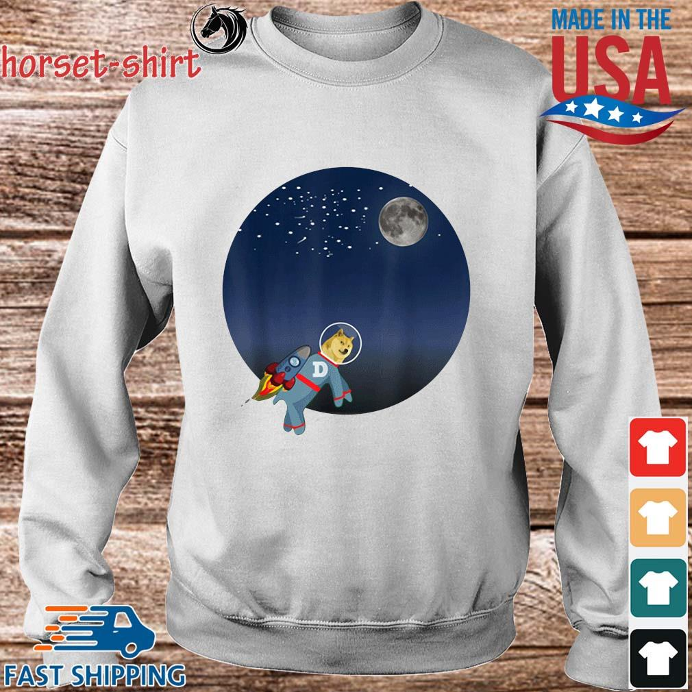 Dog To The Moon Shirt Sweater trang