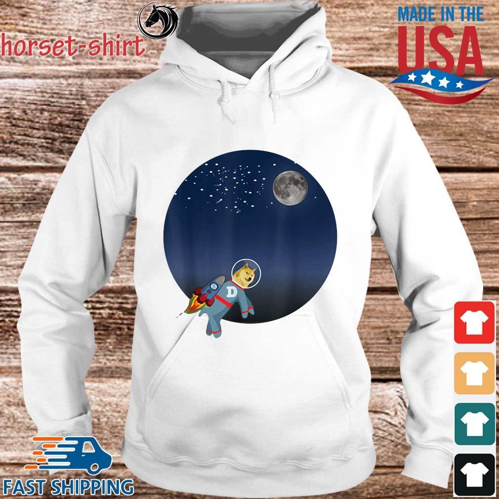 Dog To The Moon Shirt hoodie trang
