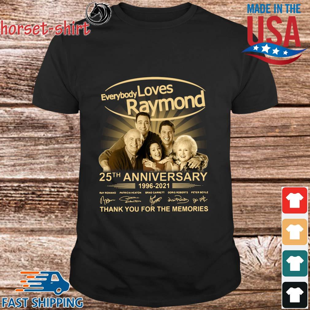Everybody Loves Raymond 25th anniversary 1996-2021 thank you for the memories signatures shirt