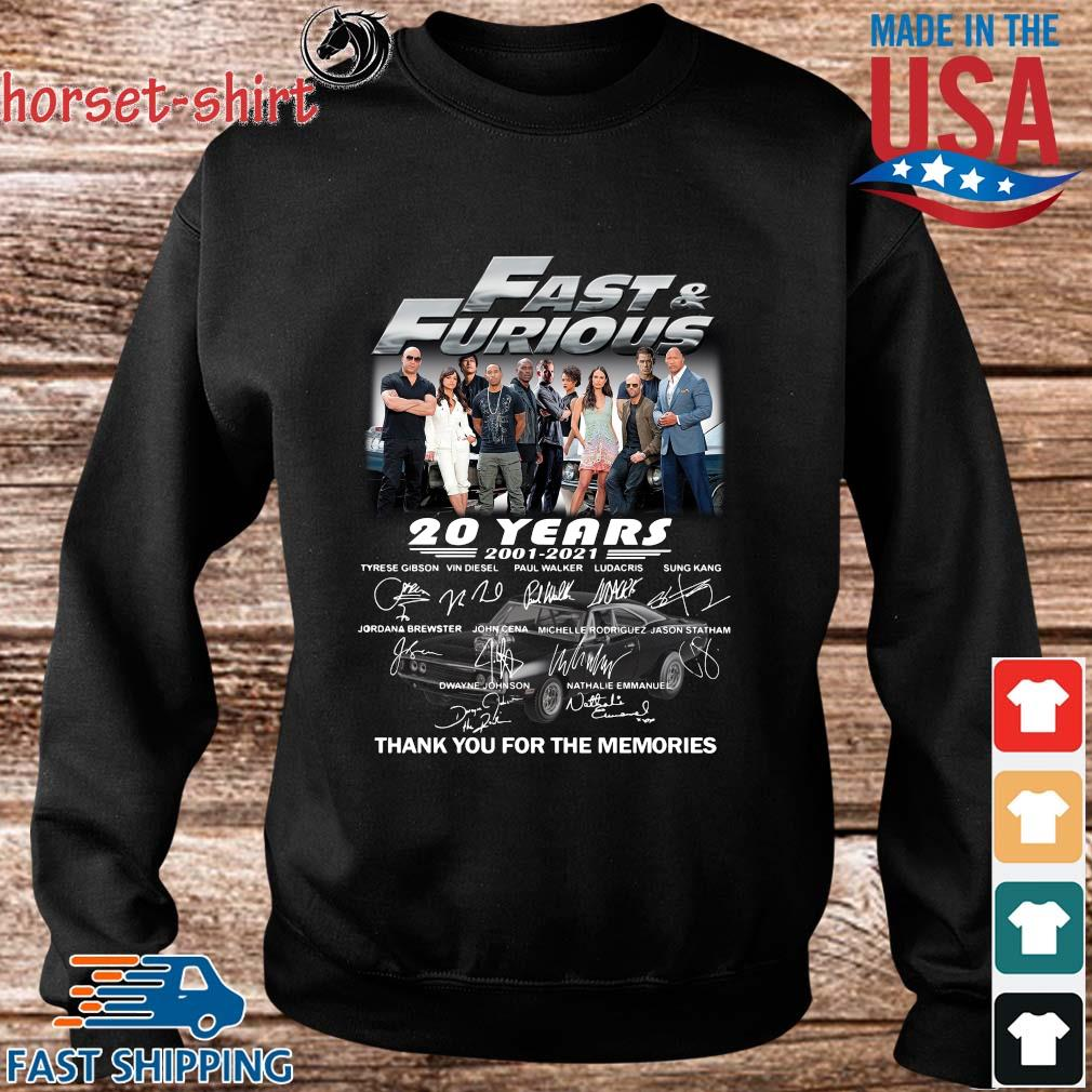 Fast And Furious 20 years 2001-2021 thank you for the memories signatures s Sweater den