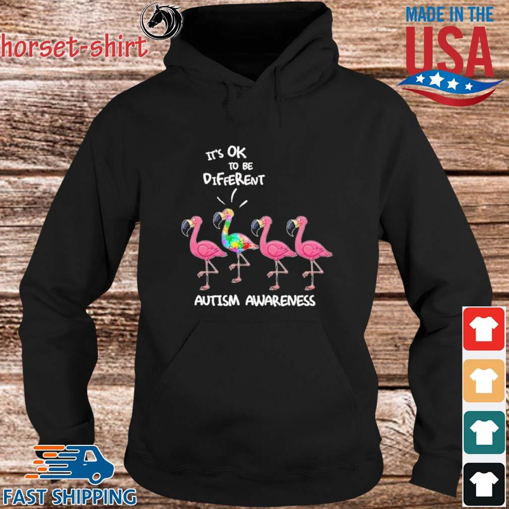 Flamingo It's Ok To Be Different Autism Awareness Shirt hoodie den