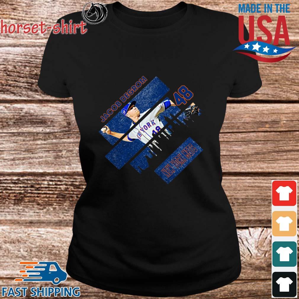 Jacob Degrom 48 New York Mets Baseball Shirt ladies den