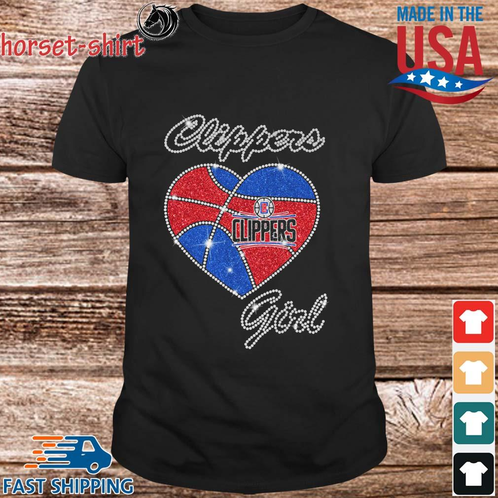 Los Angeles Clippers Heart Girl Diamond Shirt