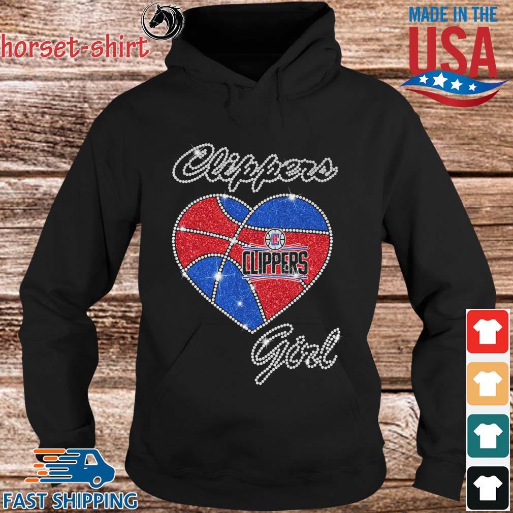 Los Angeles Clippers Heart Girl Diamond Shirt hoodie den