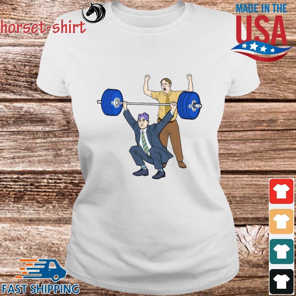 Michael Scott Dwight Schrute Gym Shirt Ladies trang