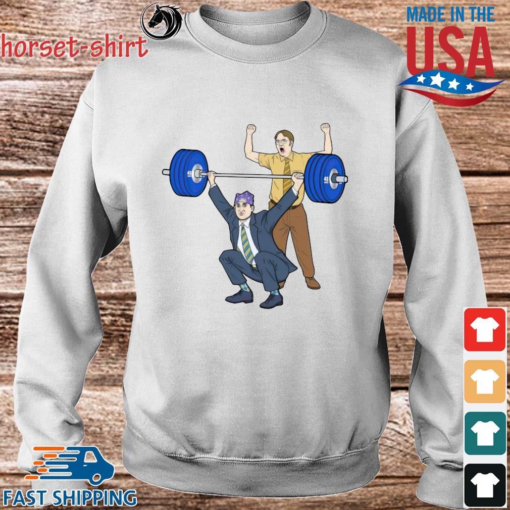 Michael Scott Dwight Schrute Gym Shirt Sweater trang