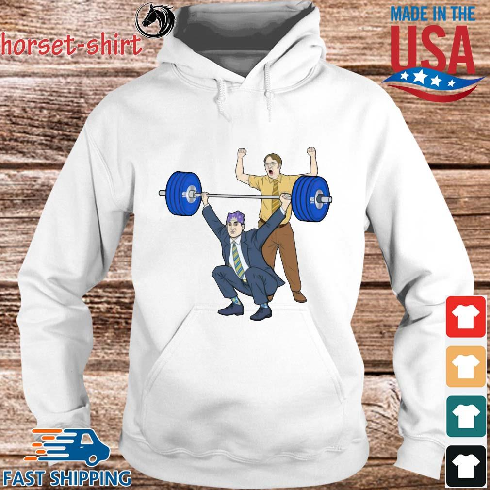 Michael Scott Dwight Schrute Gym Shirt hoodie trang