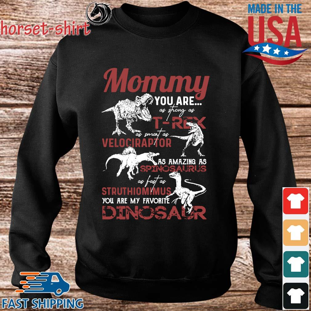 Mommy you are as strong as T-Rex as smart as velociraptor Dinosaur s Sweater den
