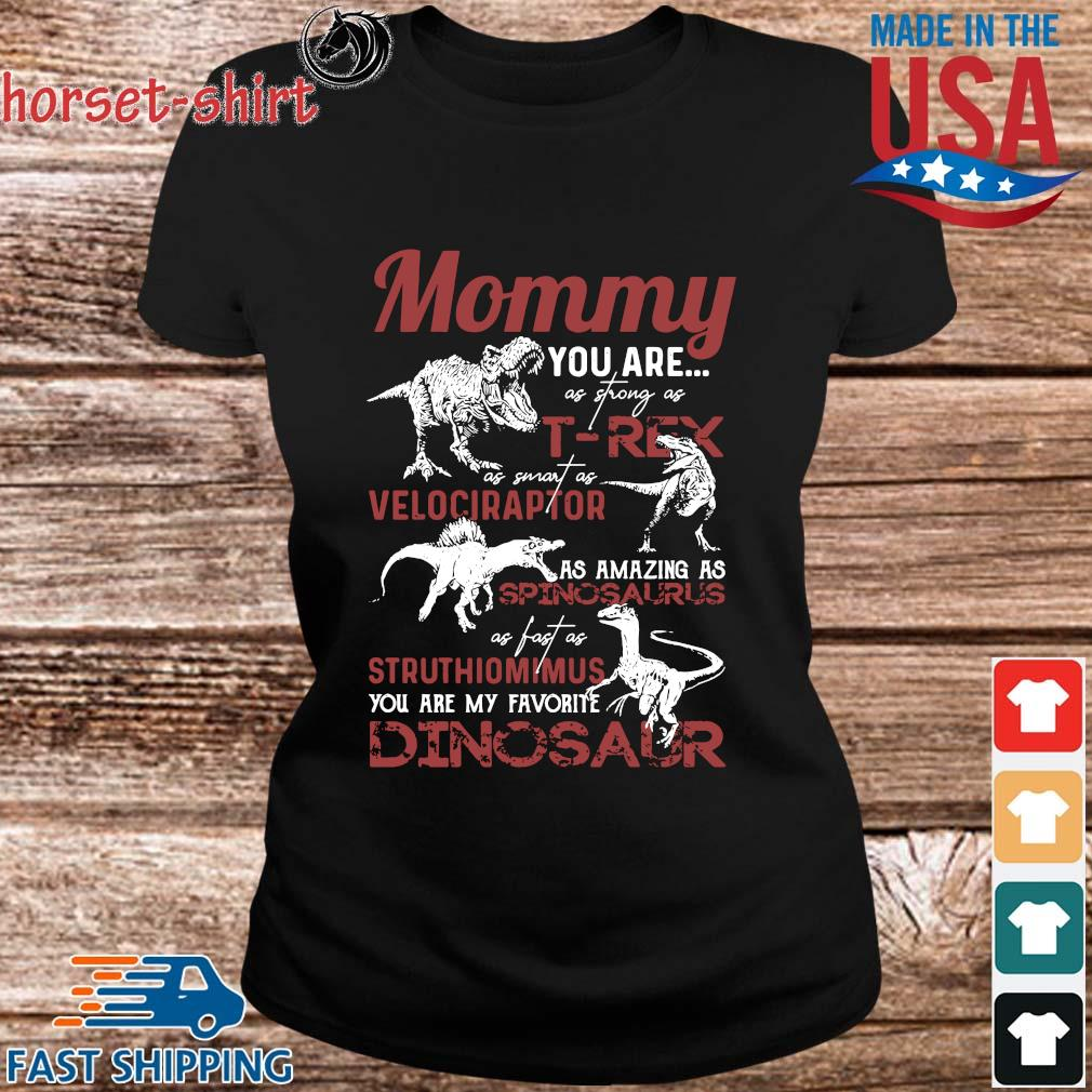 Mommy you are as strong as T-Rex as smart as velociraptor Dinosaur s ladies den