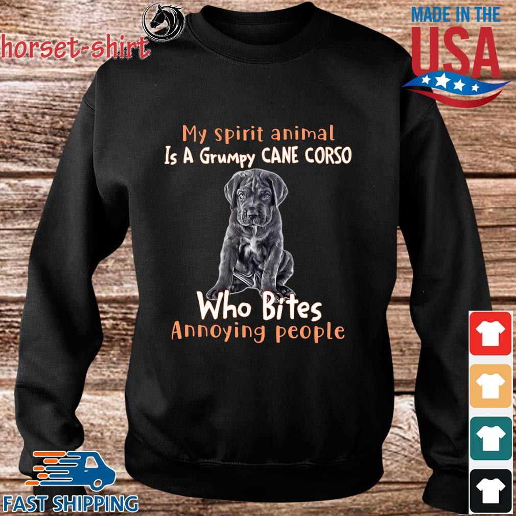 My spirit animal is a grumpy cane corso who bites annoying people s Sweater den