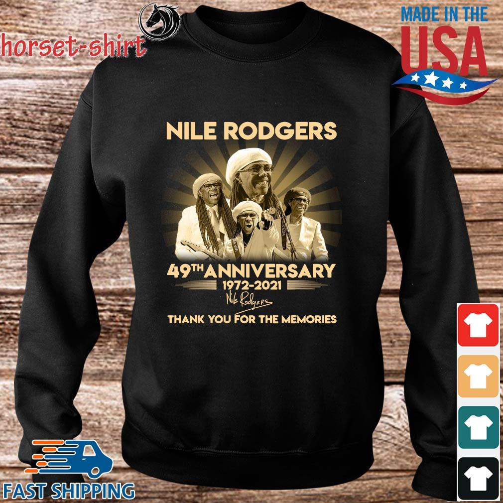 Nile Rodgers 49th anniversary 1972-2021 thank you for the memories signature s Sweater den
