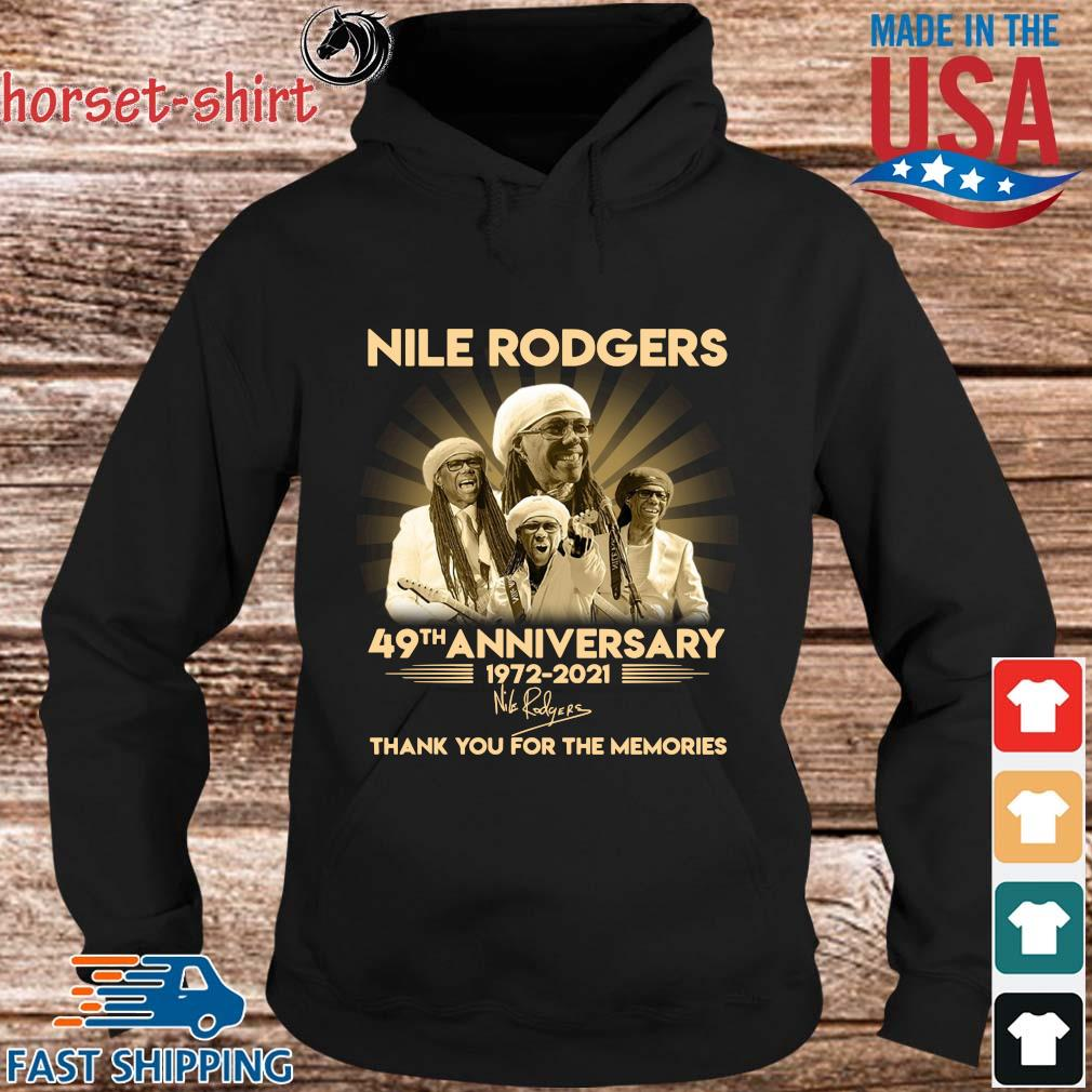 Nile Rodgers 49th anniversary 1972-2021 thank you for the memories signature s hoodie den