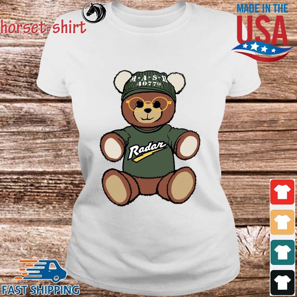 Teddy Bear Mash 4077th Radar Shirt Ladies trang