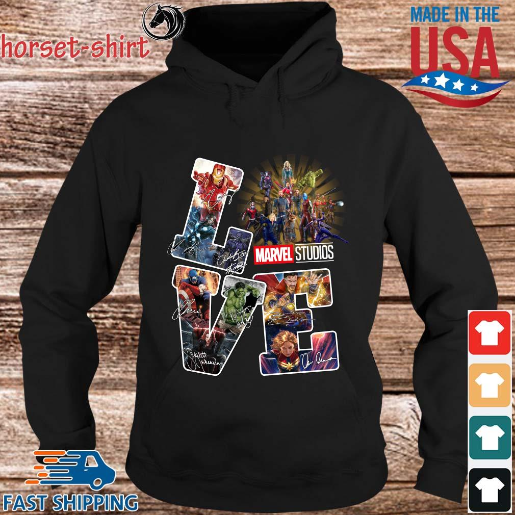 Love Marvel Studios Avengers Signatures Shirt hoodie den