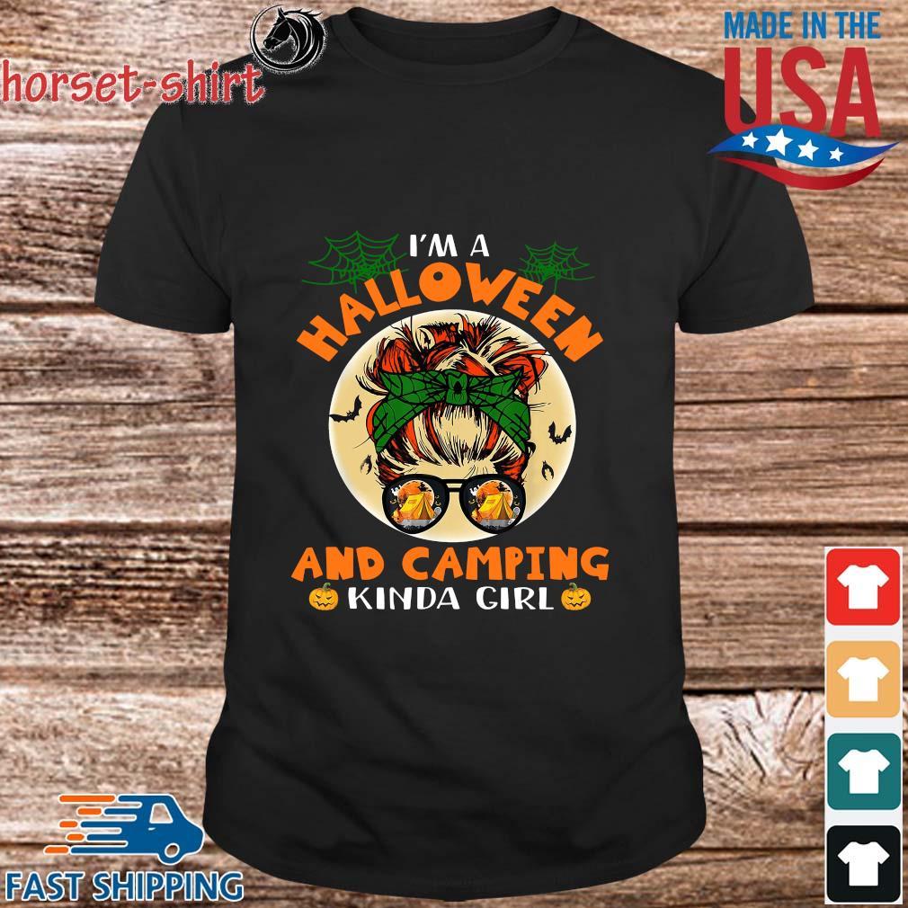 I'm A Halloween And Camping Kinda Girl 2021 Shirt Masswerks Store