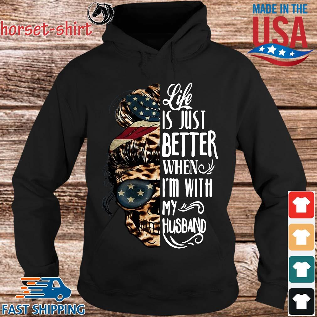 American Skull leopard life is just better when I'm with my husband s Hoodie den