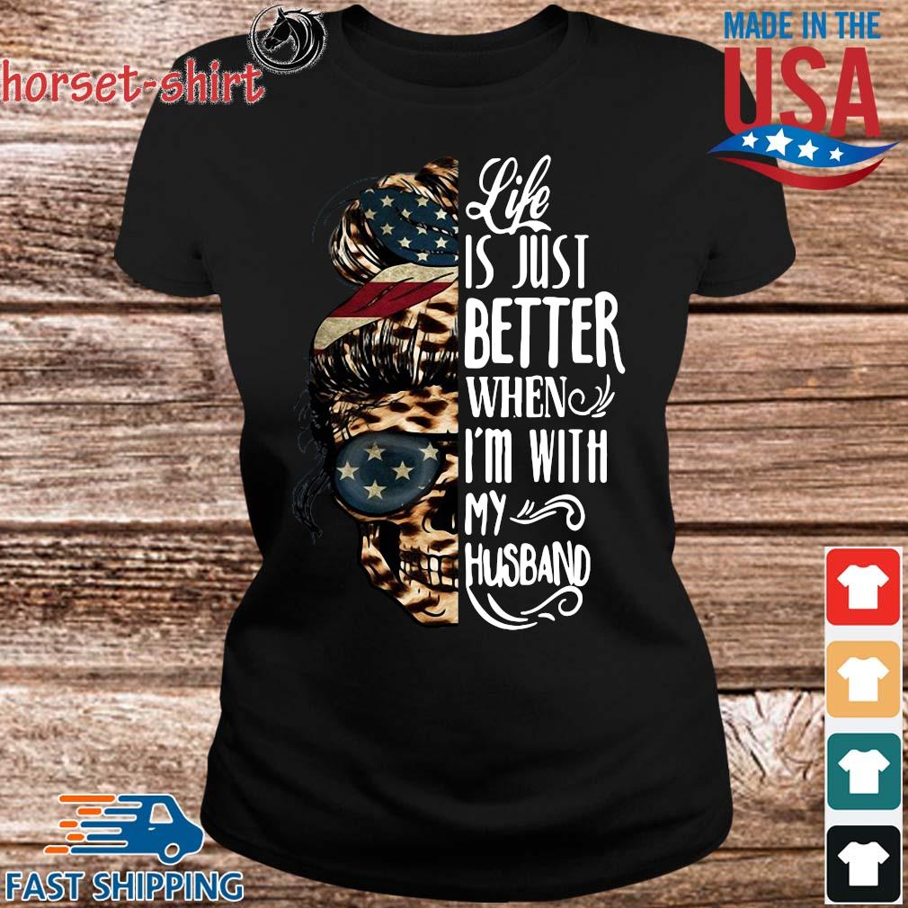 American Skull leopard life is just better when I'm with my husband s Ladies den