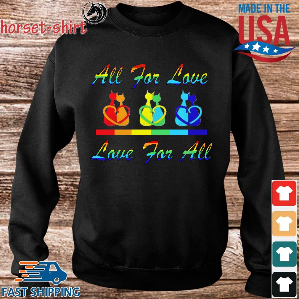 Cat couple all for love love for all s Sweater den