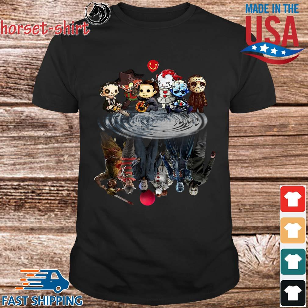 Chibi Horror Characters Horror movie Characters reflection shirt