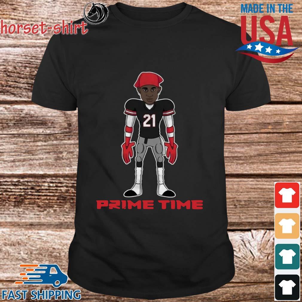 Deion Sanders Red Atlanta prime time shirt