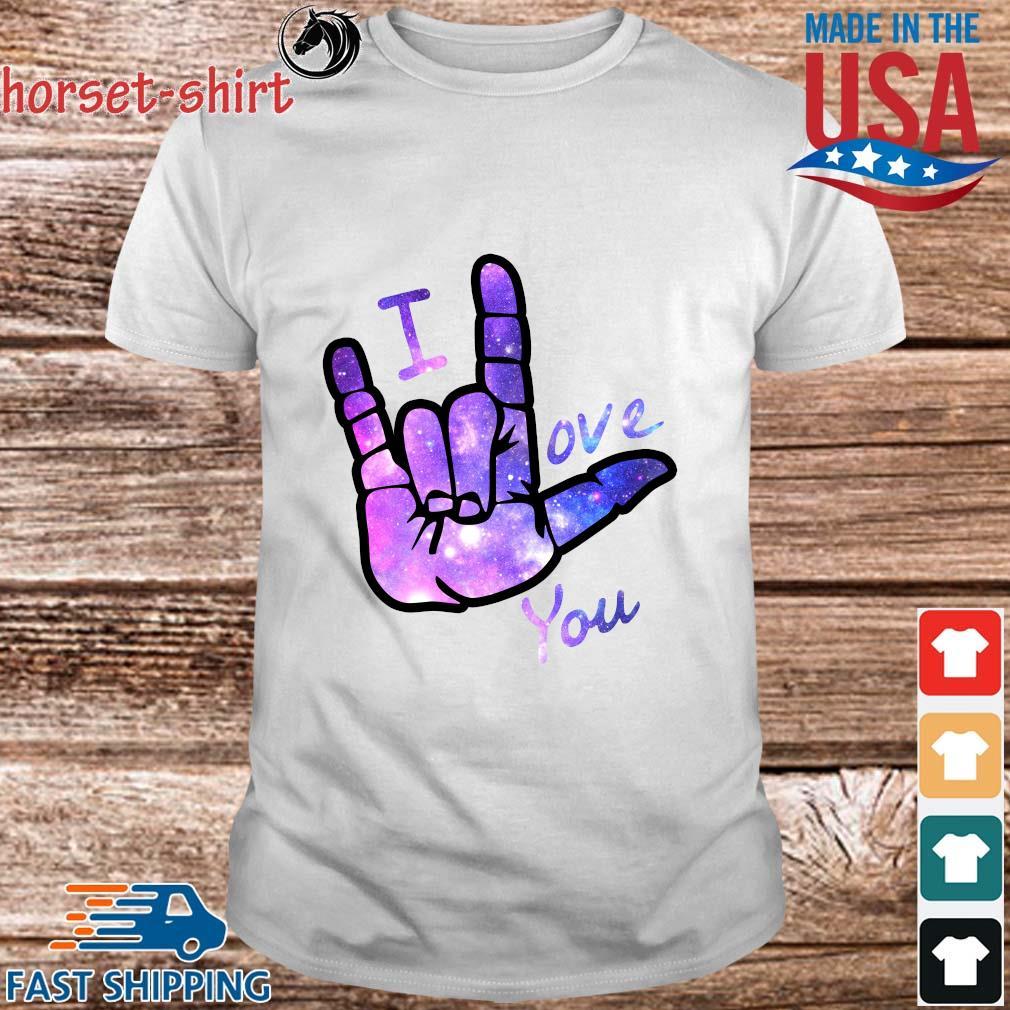 I love you sign language shirt