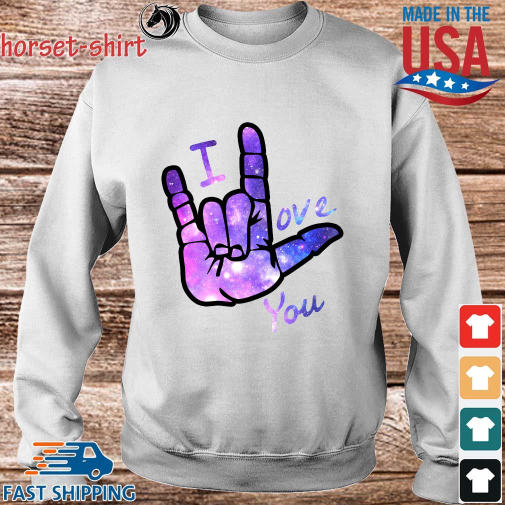 I love you sign language s Sweater trang