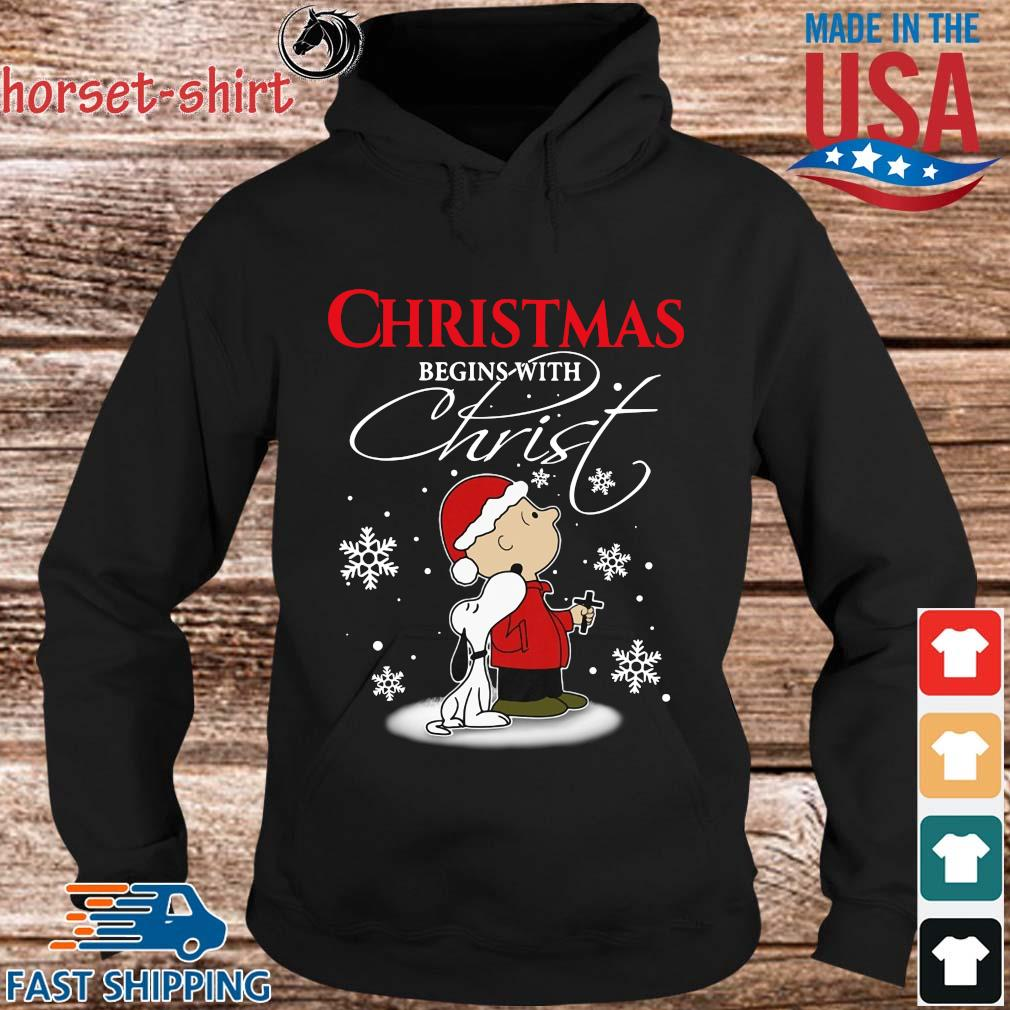Snoopy and Charlie Brown Christmas begins with Christ s hoodie den