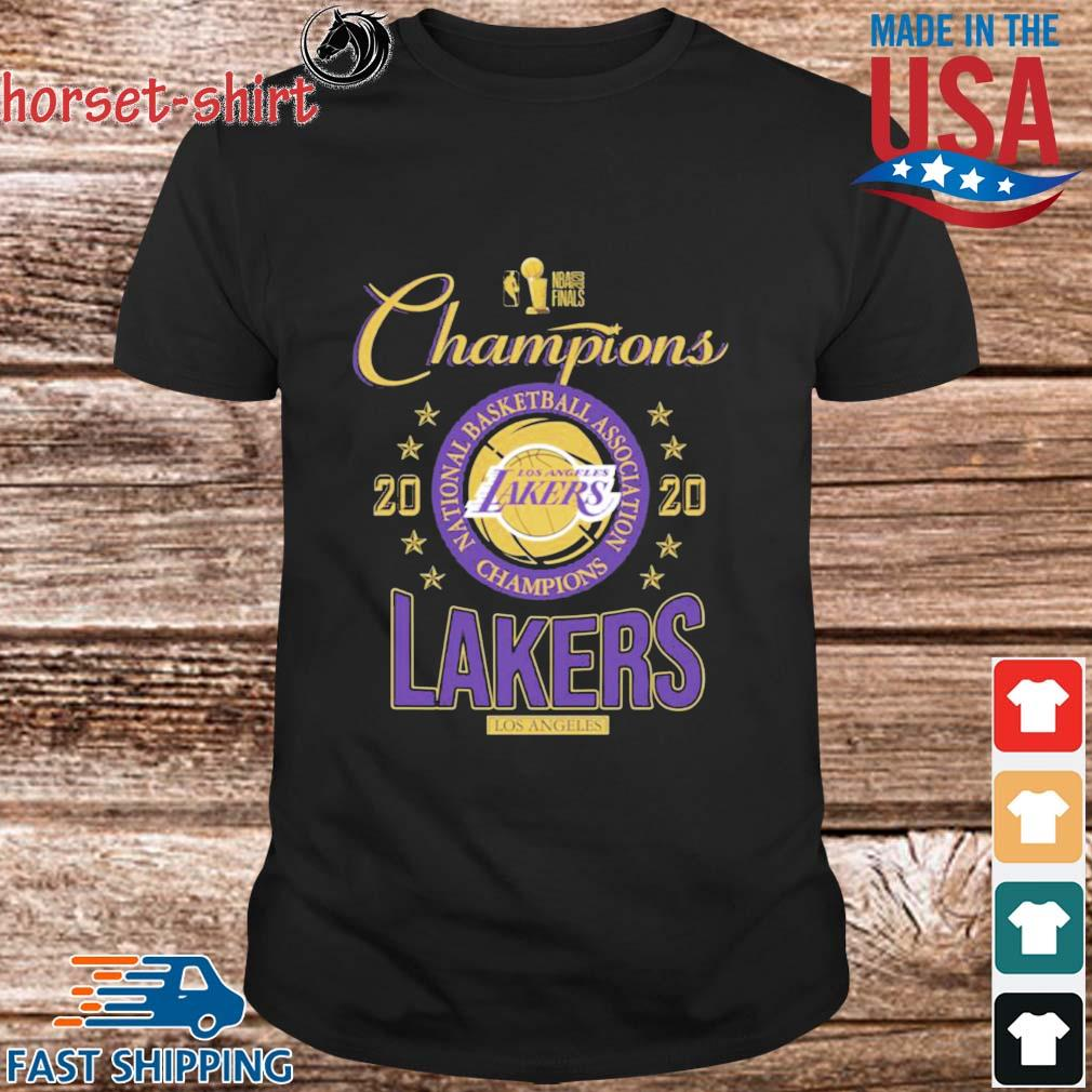 2020 Los Angeles Lakers national basketball association Champions shirt