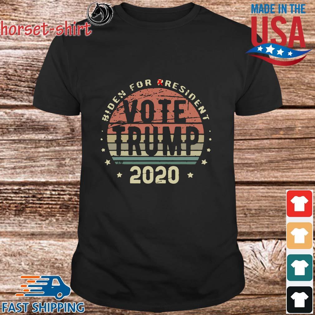 Biden for president Vote Trump 2020 vintage shirt