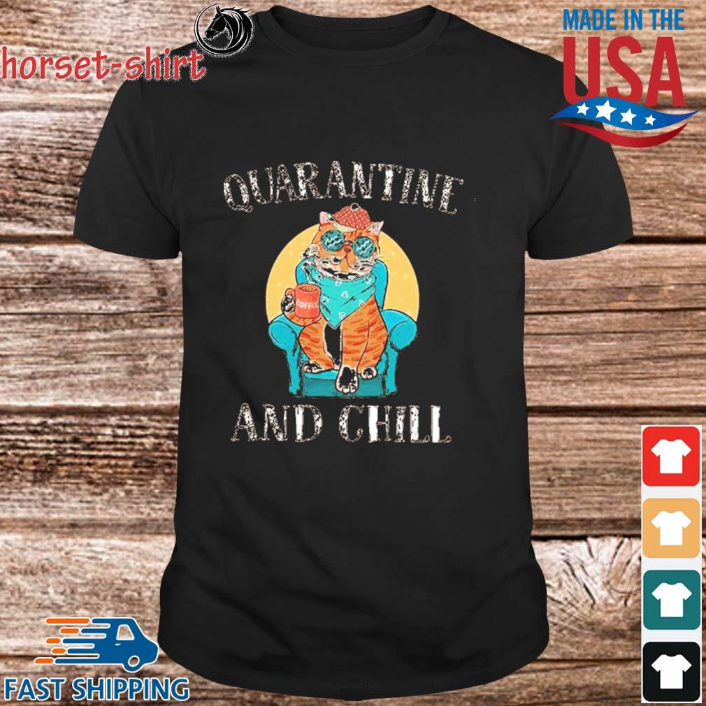 Cat Quarantine And Chill 2020 T-Shirt