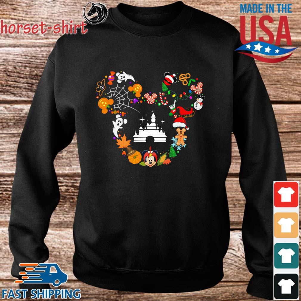 Disney movie Mickey Mouse Head Halloween and Merry Christmas s Sweater den