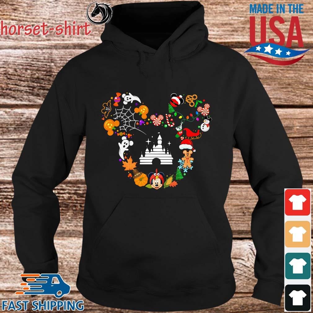 Disney movie Mickey Mouse Head Halloween and Merry Christmas s hoodie den