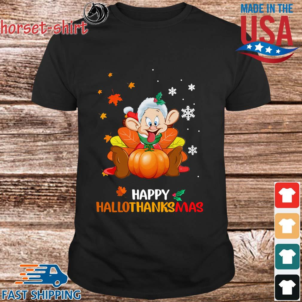 Dopey happy Hallothanksmas shirt